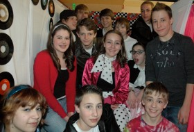 Youth at the Sock Hop fundraiser.